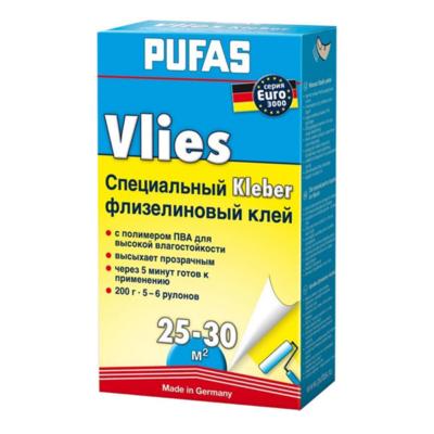 Клей Pufas Специальный Флизелин для виниловых обоев на флизелиновой основе, 350г
